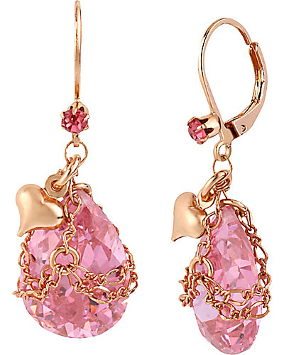 ROSE GOLD BRIOLETTE ROSE EARRNG PINK