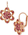 ROSE GOLD PAVE FLOWER EARRING PINK