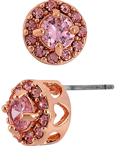 ROSE GOLD PINK STUD EARRING PINK