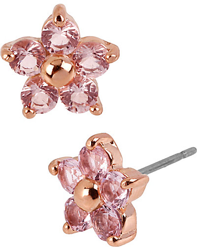 ROSE GOLD STAR STUD EARRING PINK