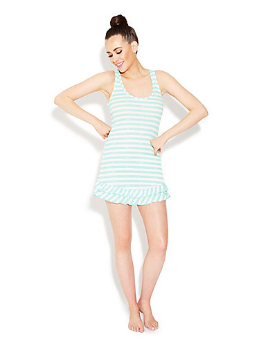 RUFFLE RIB KNIT CHEMISE MINT GREEN