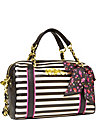 SCARF FACE MEDIUM SATCHEL BLACK WHITE