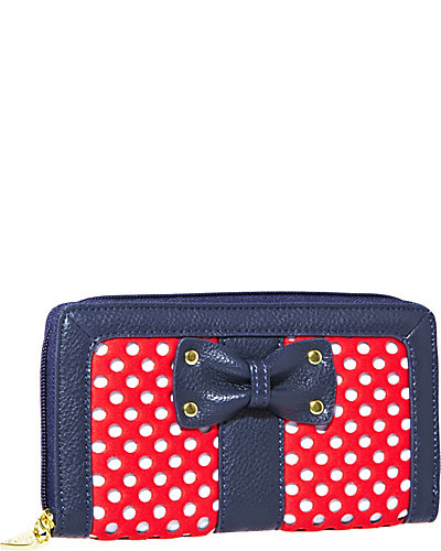 SCUBA GAL PERFORATE WALLET RED MULTI