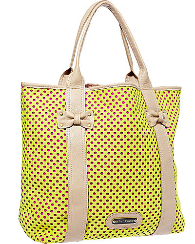 SCUBA GAL PERFORATED TOTE YELLOW-MULTI