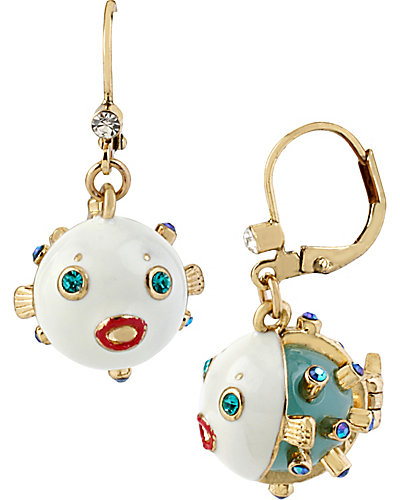 SHELL SHOCKED BLOWFISH EARRING MULTI