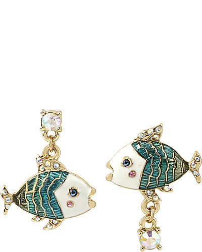 SHELL SHOCKED FISH MISMATCH EARRING MULTI