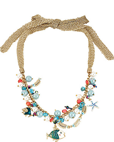SHELL SHOCKED FISH SHAKY FRONTAL NECKLACE MULTI