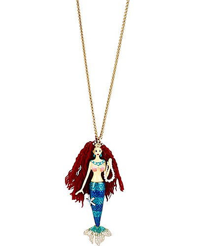 SHELL SHOCKED LARGE MERMAID PENDANT MULTI