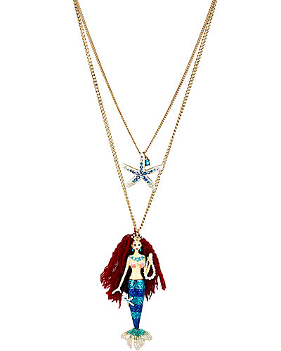 SHELL SHOCKED MERMAID 2 ROW NECKLACE MULTI