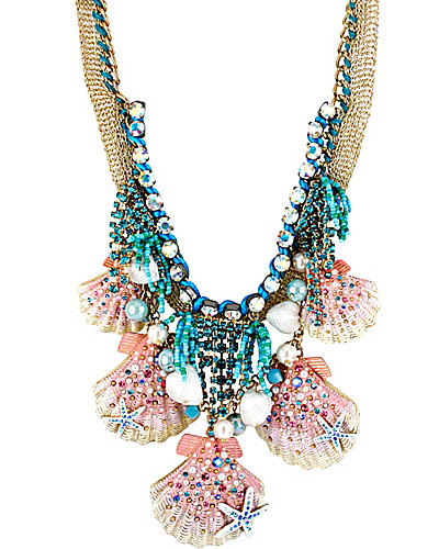 SHELL SHOCKED SHELL FRONTAL NECKLACE MULTI