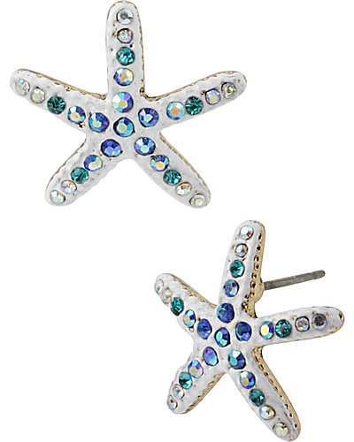 SHELL SHOCKED STARFISH STUD EARRING WHITE