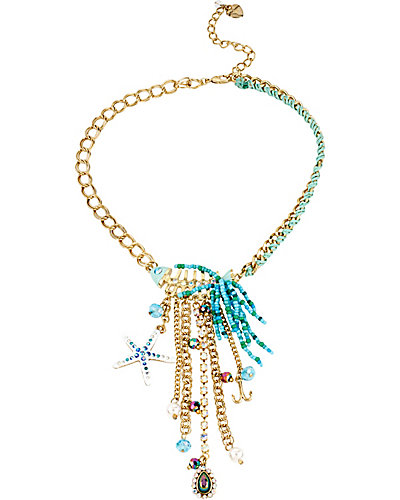 SHELL SHOCKED STARFISH TASSLE NECKLACE MULTI