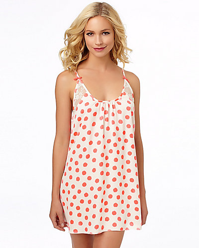 SILKY LUXE DOT SLIP CORAL