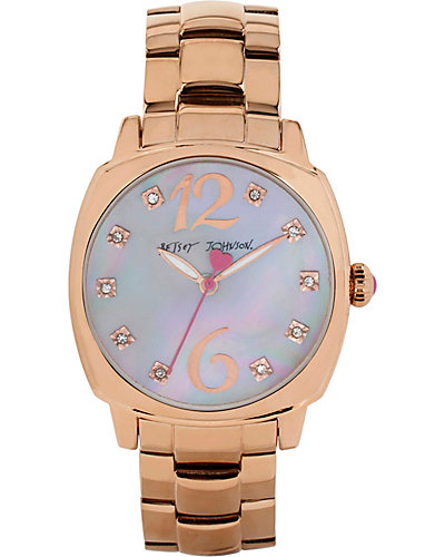 SIMPLE BETSEY ROSE GOLD WATCH ROSE GOLD