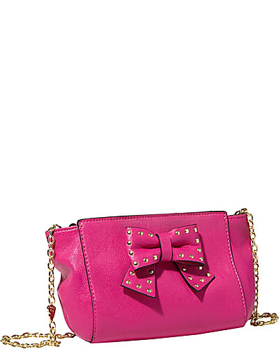SINCERELY YOURS BOW CROSSBODY PINK