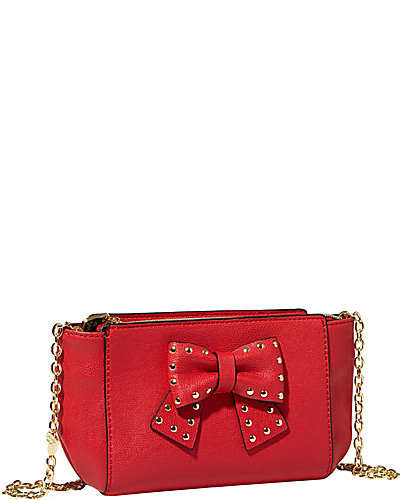 SINCERELY YOURS BOW CROSSBODY RED