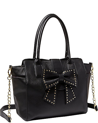 SINCERELY YOURS BOW TOTE BLACK