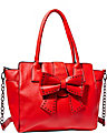 SINCERELY YOURS BOW TOTE RED