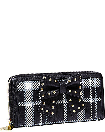 SINCERELY YOURS BOW WALLET BLACK-WHITE