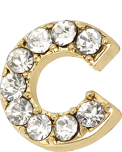 SINGLE LETTER C STUD CRYSTAL