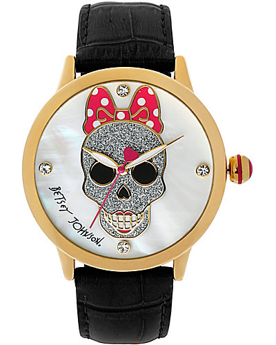 SKULL FACE WATCH BLACK