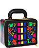 SKULL MINI SUITCASE BLACK MULTI