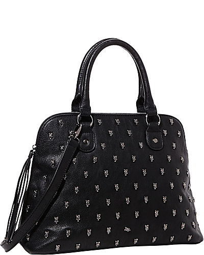 SKULL SQUAD DOME SATCHEL BLACK
