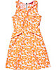 SLEEVELESS MOD FLORAL DRESS ORANGE
