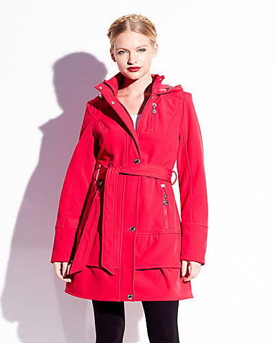 SOFTSHELL HOODED JACKET PINK