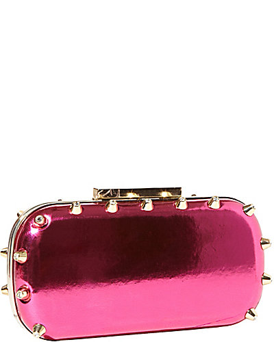 SPIKED CLUTCH PINK