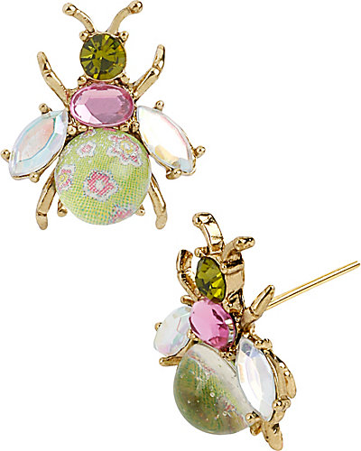 SPRING GLAM BUG STUD EARRING MULTI