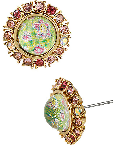 SPRING GLAM FLOWER PRINTED STUD EARRING MULTI