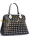 SPRING STUD DOME SATCHEL BLACK