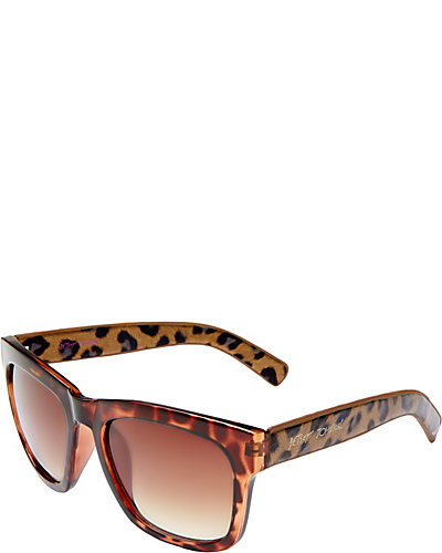 SQUARE METALLIC ANIMAL PRINT SHADES TORTOISE