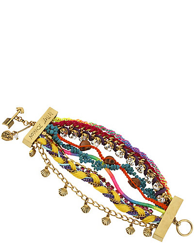 ST BARTS MULTI ROW TOGGLE BRACELET MULTI