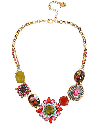ST BARTS MULTI STONE NECKLACE MULTI