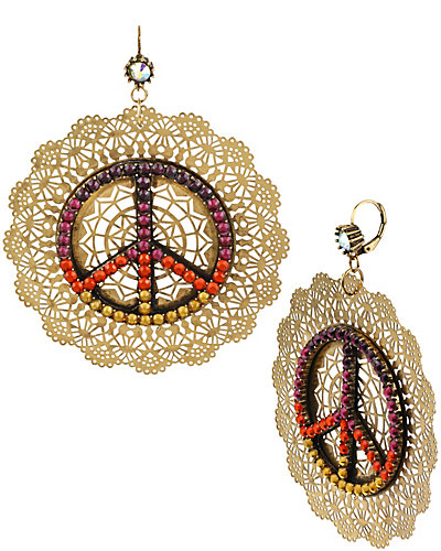ST BARTS PEACE FILGREE EARRING MULTI