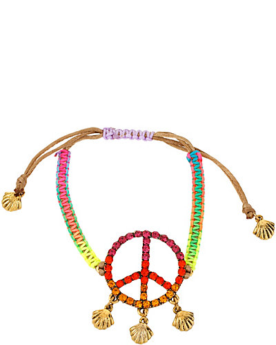 ST BARTS PEACE FRIENDSHIP BRACELET MULTI
