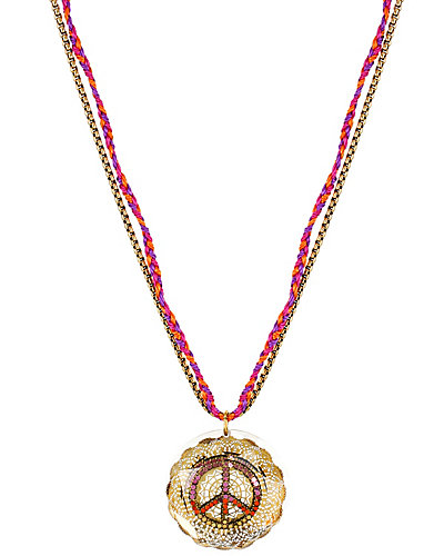 ST BARTS PEACE SIGN NECKLACE MULTI