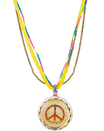 ST BARTS PEACE SIGN PENDANT MULTI