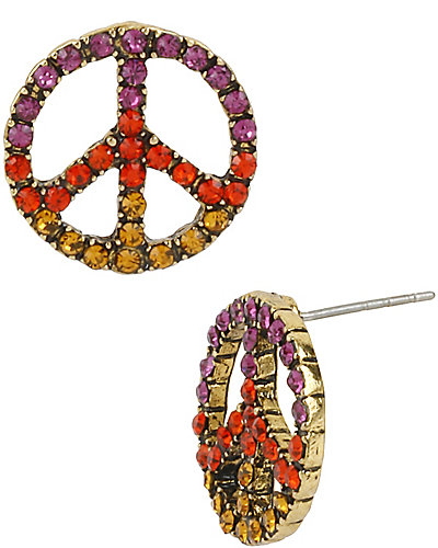 ST BARTS PEACE SIGN STUD MULTI