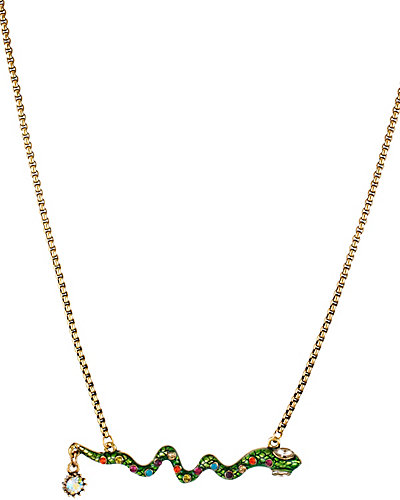 ST BARTS SNAKE NECKLACE GREEN