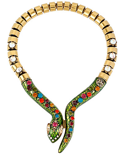 ST BARTS STONE SNAKE NECKLACE MULTI