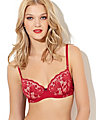 STARLET LACE BALCONETTE BRA RED