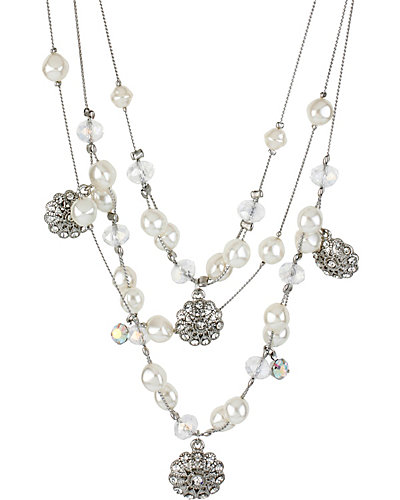 STONE PEARL ILLUSION NECKLACE CRYSTAL