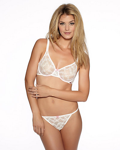 STRETCH LACE UW BRA WHITE