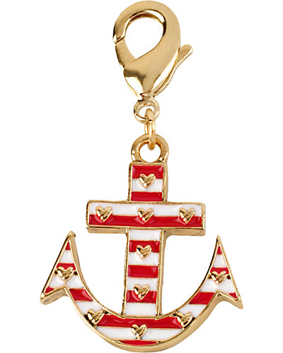 STRIPE ANCHOR CHARM PINK