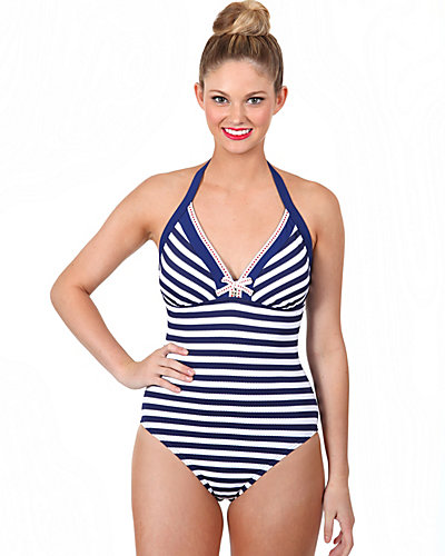 STRIPE AWAY ONE PIECE NAVY