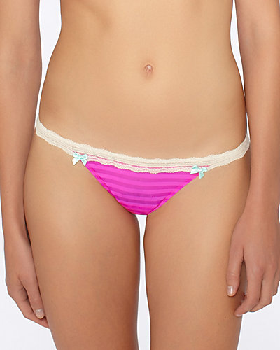STRIPE HYPE THONG PINK
