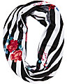 STRIPE ROSE INFINITY SCARF WHITE